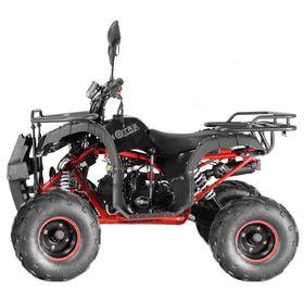 Квадроцикл подростковый бензиновый MOTAX ATV Grizlik Super LUX 125 cc, чёрный, красная рама Ош