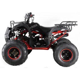 Квадроцикл подростковый бензиновый MOTAX ATV Grizlik LUX125 cc, чёрный, красная рама Ош