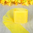 Лента для бантов, 80мм, 25м, цвет жёлтый