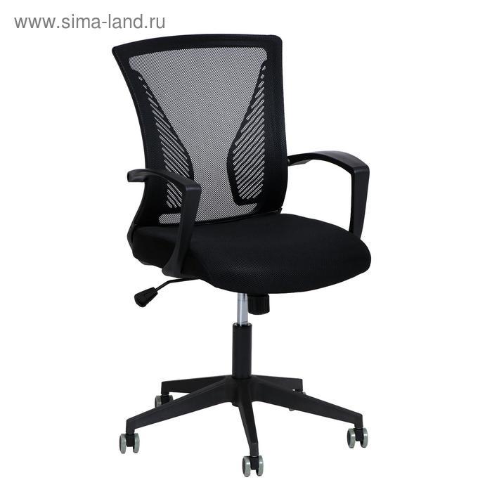 Кресло оператора BRABIX Carbon MG-303, с подлокотниками, чёрное