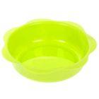 Миска детская пластиковая, 500 мл, глубокая, от 6 мес., цвет салатовый