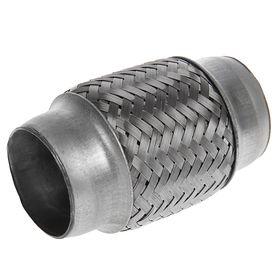 Гофра глушителя 45х100 мм, алюминизированная сталь