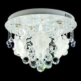 "Люстра 001 ""Нарциссы"" белый свет SMD+E14х4 40W диам 40 см (пульт в комплекте)"
