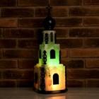 """Соляной светильник """"Церковь"""" 15 кг, цветной, цельный кристалл"""