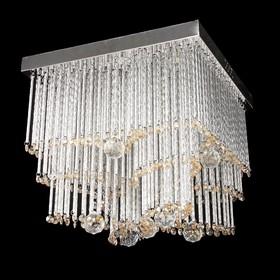 "Люстра 1745 ""Хрустальный цветок"" белый свет SMD+E14х4 40W диам 40 см (пульт в комплекте)"