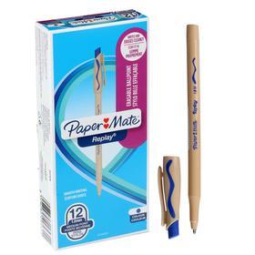 Ручка Пиши-стирай шариковая PAPER MATE Replay, толщина письма 1,0 мм, стержень синий
