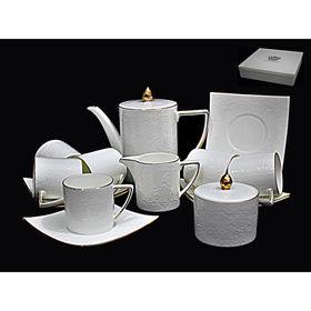 """Чайный сервиз """"Белая роза"""", 15 предметов, в подарочной упаковке"""