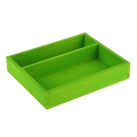Коробка для цветов и макарунас салатовая, 25.5 х 20 х 4.5 см