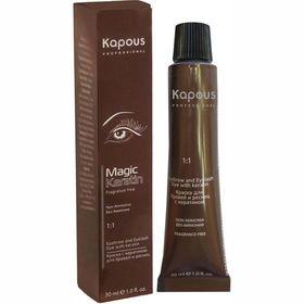 Kраска для бровей и ресниц Kapous Magic Keratin, с кератином, графит, 30 мл Ош