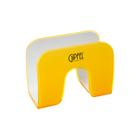 Подставка для салфеток ARCO, 12,3х6,2х9,6 см, бело-жёлтая