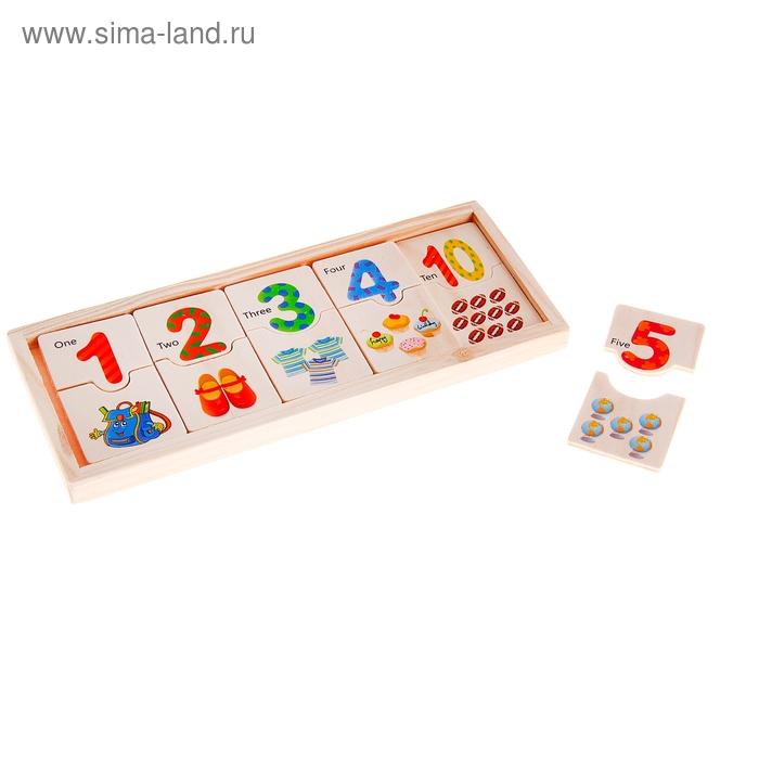 """Домино """"Учимся считать"""", 20 элементов"""