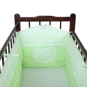 Бортик в кроватку, цвет зелёный микс 18.12