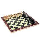 Игра настольная 3 в 1: нарды, шахматы, шашки, в плёнке, чёрно-жёлтая доска 34 × 34 см