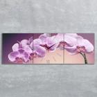 Часы настенные модульные «Нежные орхидеи», 35 × 110 см