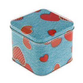 Подарочная коробка 'Джинс', куб, 7.6 х 7.6 х 6.5 см Ош