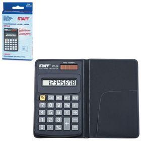 Калькулятор карманный 8-разрядный STAFFSTF-818, двойное питание, 102х62 мм Ош