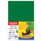 Картон цветной А4, 7 листов, 7 цветов STAFF, 200х283 мм