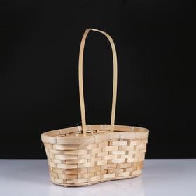 Корзина плетёная, бамбук, натуральный цвет, с изгибом Ош
