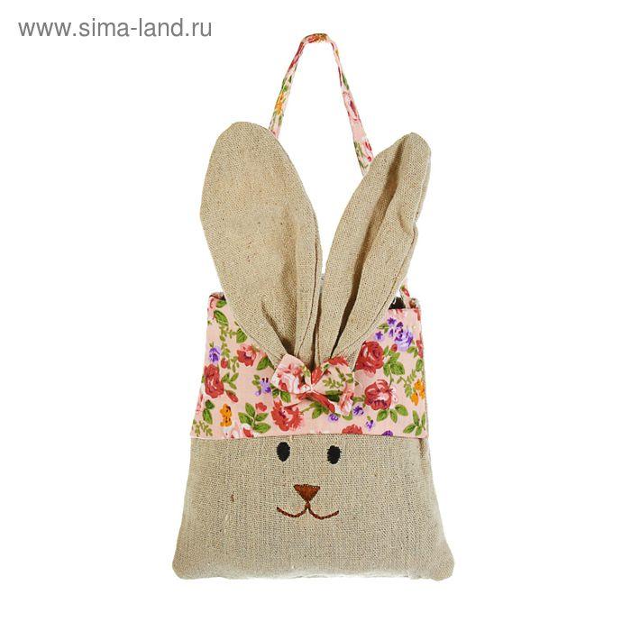 "Подарочная сумочка ""Заяц"" в цветочек, цвета МИКС"