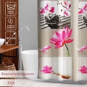 """Штора для ванной 180х180 см """"Медитация"""", EVA"""