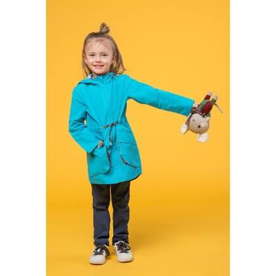 Парка для девочки, рост 116 см (30), цвет бирюзовый ДЛ-0805