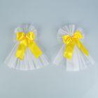 Набор бантов для зеркал «Цветок», 2 шт., жёлтый