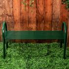 Скамья садовая без спинки «Беседа 2», 128 × 49 × 70 см, двухместная, зелёная