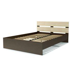 Кровать 140 с орт.основанием ЭКО СТИЛЬ венге/дуб млечный