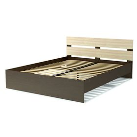 Кровать 160 с орт.основанием ЭКО СТИЛЬ венге/дуб млечный