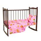 Детское постельное бельё (3 предмета), цвет розовый 08201-05
