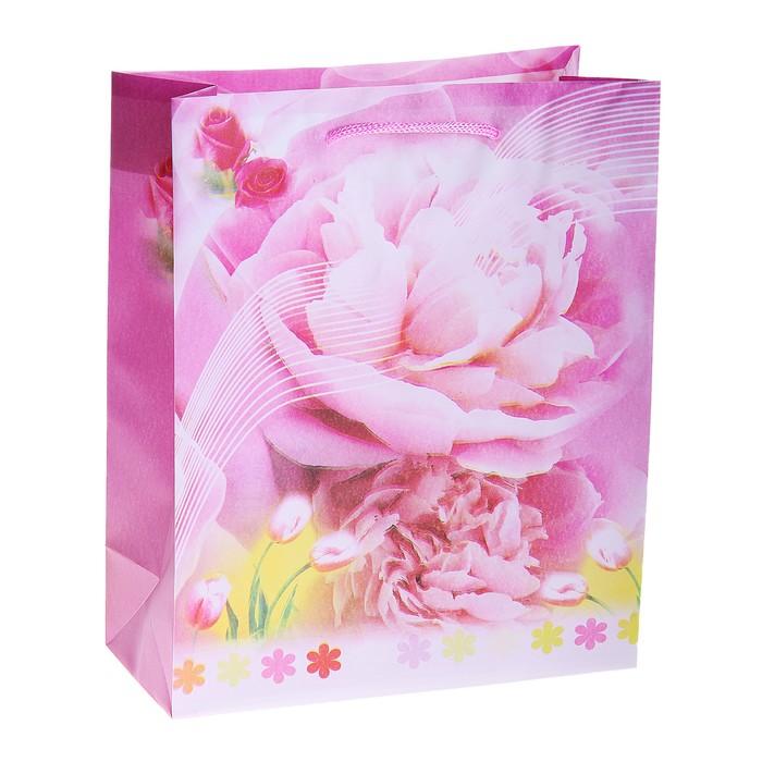 """Пакет пластиковый """"Нежность цветов"""""""