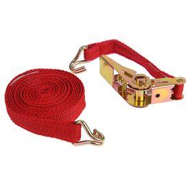 Стяжка груза с механизмом 110 мм, ширина ленты 25 мм, нагрузка 200/400 кг, длина 4 м