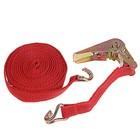 Стяжка груза с механизмом 110 мм, ширина ленты 25 мм, нагрузка 200/400 кг, длина 6 м