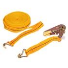 Стяжка груза с механизмом 110 мм, ширина ленты 25 мм, нагрузка 400/800 кг, длина 8 м
