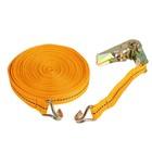 Стяжка груза с механизмом 110 мм, ширина ленты 25 мм, нагрузка 400/800 кг, длина 12 м