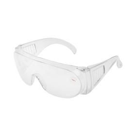 Очки защитные LOM, прозрачные, открытого типа, ударопрочный материал