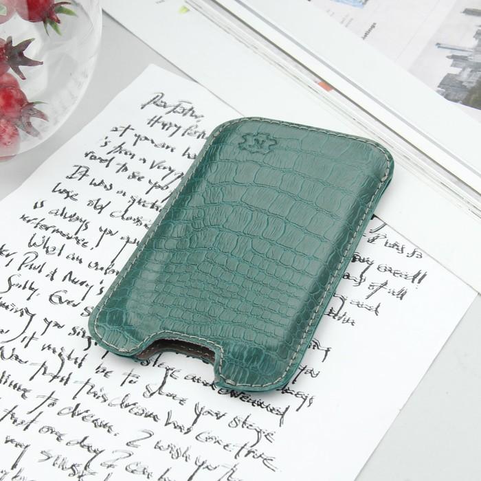 """Чехол-кармашек """"Norton"""" для телефона Samsung, рептилия, цвет зеленый"""