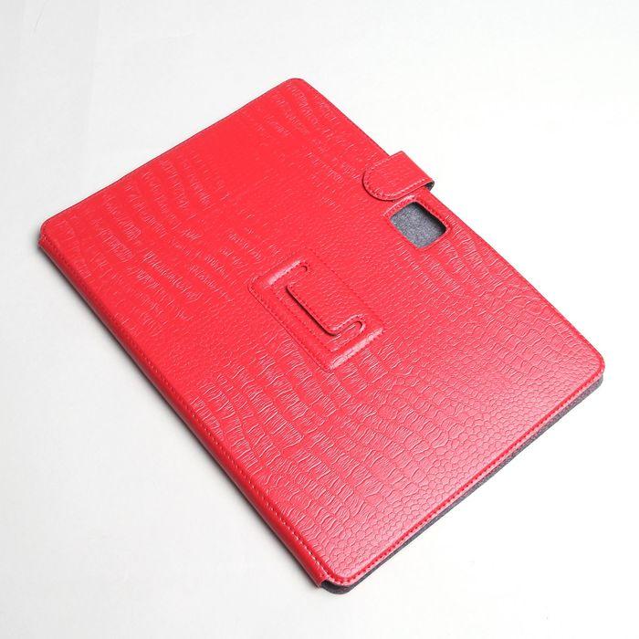 Чехол-книжка для планшета, крепление резинки, цвет красный