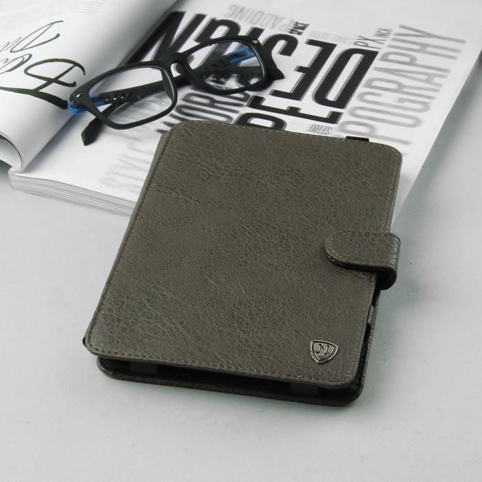 Чехол-книжка для планшета, с клипсами, цвет серый