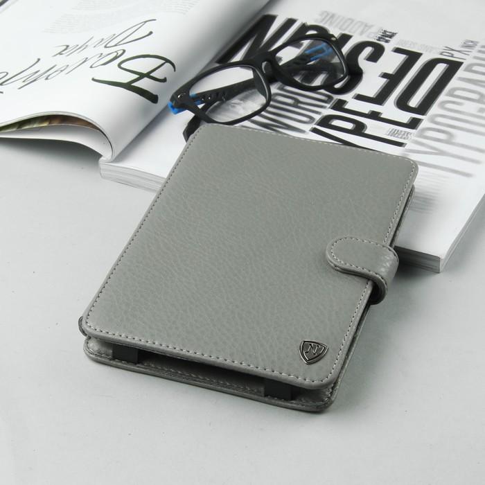 Чехол-книжка для планшета, с клипсами , цвет серый