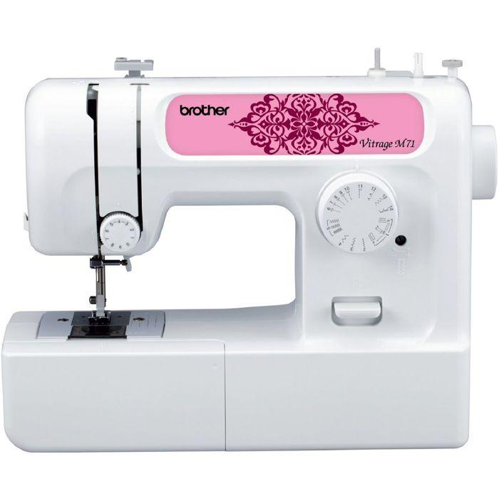 Швейная машина Brother Vitrage M71, 14 операций, потайная, эластичная, эласт потайная строчка