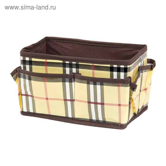 "Органайзер для косметики/мелочей ""Шотландка"", с 8 карманами 20х12х12 см"