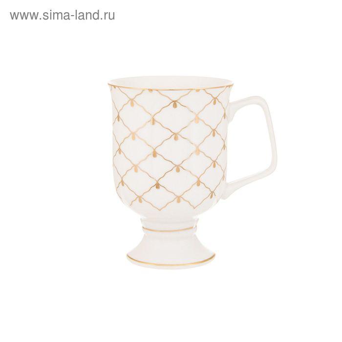 """Кружка для капучино и кофе латте """"Золотая сетка"""", 380 мл, 12х8,5х12,5 см"""