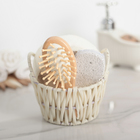 Набор банный 3 предмета: расческа, пемза, мочалка, цвет МИКС