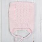 """Шапка для девочки """"Асечка"""" размер 42-44 (6-12 мес.), цвет розовый 1055-56с_М"""