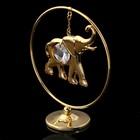 Сувенир «Слон в кольце», 3х7х8 см, с кристаллом Сваровски