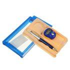 Набор подарочный 2в1 в блистере (ручка+кликер) синий 7*12,5см