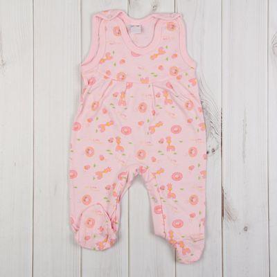 Полукомбинезон детский, рост 86 см, цвет розовый 0303Кр86_М