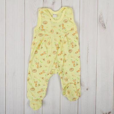 Полукомбинезон детский, рост 86 см, цвет жёлтый 0303Кж86_М