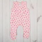 Полукомбинезон детский, рост 56 см, цвет розовый 0305ИПр56_М